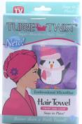 The Original Turbie Twist Flower Embroidered Microfiber, Crea,
