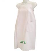 Alpha Gamma Delta White Towel Wrap
