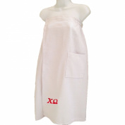 Chi Omega White Towel Wrap