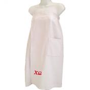 Chi Omega White Towel Wrap