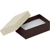21 Black Pinstripe Cotton Filled Boxes