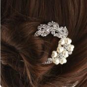 DGI MART Personal Hair Care Accessories U Shape Rhinestones Crystals Hair Sticks Hair Clip Hairpin