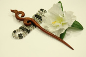 Red Sandalwood Hair Stick Hand-carved Hair Stick - WHS016