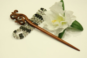 Red Sandalwood Hair Stick Hand-carved Hair Stick - WHS014