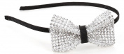 Great Gatsby / Roaring 20s Flapper Inspired Handmade Rhinestone Bow Headband / Hairband