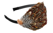 Great Gatsby/Flapper Inspired Handmade Headband/Hairband with Faux Quail Feathers