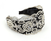 Great Gatsby / Flapper Inspired Handmade Lace Headband / Hairband w Rhinestones