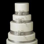 Rhinestone Floral Swirl Vine Wedding Cake Decorators