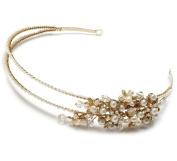 Elegance Collection - Wedding Headband Bridal Tiara with Side Crystal