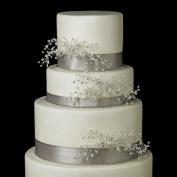 . Crystal, Bead & Rhinestone Floral Vine Wedding Cake Decorators