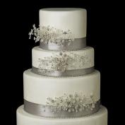 . Crystal, Rhinestone & Bugle Bead Floral Vine Wedding Cake Decorators