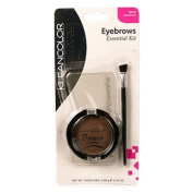 (3 Pack) KLEANCOLOR Brows Essential Kit - Dark Brown
