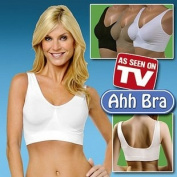 Ahh Bra Set of 3 (One Nude One Black one White) - 2X-Large *As Seen On TV