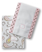 SwaddleDesigns Baby Burpies, Triplets Paisley