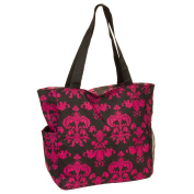 Women's Floral Damask Scroll Print Beach Shopper Tote Bag - Multiple Colours!