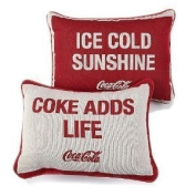 "Coca-cola ""Ice Cold Sunshine"" Reversible Pillow"