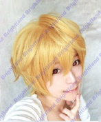 Flyingdragon Nagisa Hazuki Short Dark Gold Blonde Straight Coplay Wig
