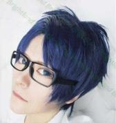 Flyingdragon Rei Ryugazaki Short Blue Mix Cosplay Heat Resistance Wig
