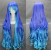 Flyingdragon ANTI THEHOLiC Mixed Blue Cosplay Costume Long Curly Wig