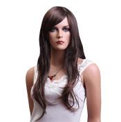 Troadzwig Brown Big wave Long Curly Hair Natural Fluffy Wigs for Women Kanekalon Fibre Synthetic