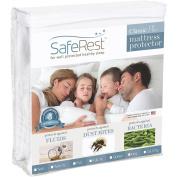 SafeRest Classic Plus Hypoallergenic 100% Waterproof Mattress Protector - Vinyl Free