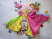 Taggies Patchkin Blankies Pals Pink Bunny Rabbit Plush Security Blanket Lovey