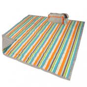 Easy Roll Up Blanket-Summer Stripe
