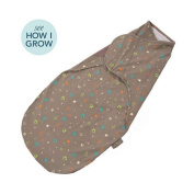 Nuroo swaddler. The only grow with me design on the market. Three sizes in one. fits 1.8-7.7kg. up to 70cm