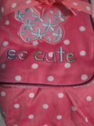 Baby Girl Butterfly and Dots Pink Blanket