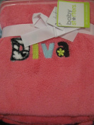 "Baby Starters Pink Baby Girl ""Diva"" Soft Blanket"