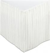 Auggie Crib Skirt- Painted Stripe/Grey