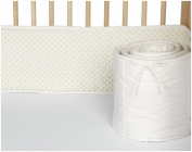 Auggie Crib Bumper; Cross Stitch/Fern