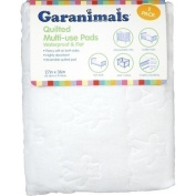 Garanimals Quilted Waterproof Multi-Use Crib Pad, 2-Pack