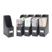 Whitmor 6551-372-5-BLK Plastic Organiser Collection Magazine Organiser Set of 5, Black
