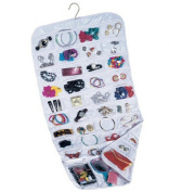 Household Essentials 80-Pocket Hanging Jewellery and Accessories Organiser, White Vinyl