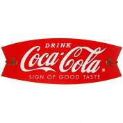 Coca-Cola Wooden Sign & Coat Rack