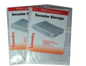 2 Transparent Sweater Storage Bags Space Saver Zipper