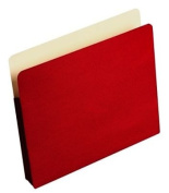 Wilson Jones Colorlife Recycled (50%) Expanding File Pockets, Letter Size, 7.6cm - 1.3cm Expansion, Red, 25/box, WCC64R