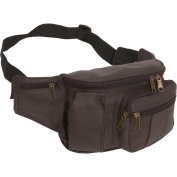 Leather Cell Phone/Fanny Pack (Dark Brown)
