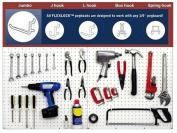 WallPeg 80 pc. Assorted White Peg Hooks - Garage Storage & Tool Organiser