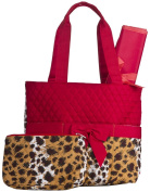 Quilted Nappy Bag with Changing Pad and Accessory Case - 3 Pieces