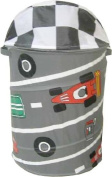 Race Car Pop-Up Laundry Hamper - Round