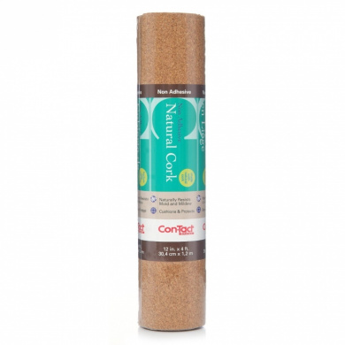 naturals adhesive cork shelf liner 2