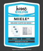 Miele GN Deluxe Allergen Home Revolution Brand Replacement Vacuum Bags and filters - 5 Synthetic Bags + 2 filters; Made To Fit Miele Vacuum Cleaner Series S400i-S456i, S600-S658, S800-S858, S5000-S5999 Canister Series; Made To Fit Miele Vacuum Cleane ..