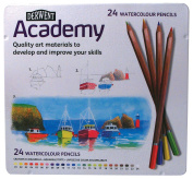 Watercolour Pencil 24-Colour Tin Set