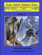 Female Elf and Dragon Cross Stitch Pattern