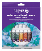 Reeves Water Mixable Oil Paint 10ml 18/Pkg-Assorted Colours