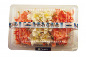 Dimensional Paper Flowers Peach/White