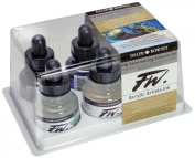 Liquid Artists' Acrylic Ink 6-Colour Shimmering Set
