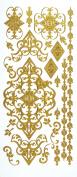 Stickers Gold Flourish